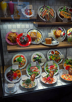 Plastic Food Display - Kyoto Japan Poster by Daniel Hagerman