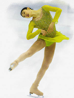 Yuna Kim Of Rebublic Of Korea Poster by Don Kuing