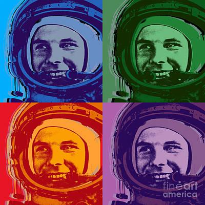Yuri Gagarin  Poster by Jean luc Comperat