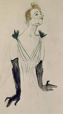 Yvette Guilbert  Poster by Henri de Toulouse-Lautrec