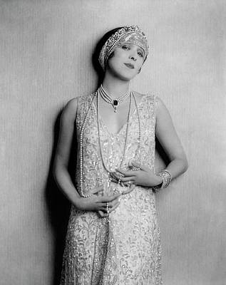 Yvonne D'arle Wearing A Diadem Poster by Florence Vandamm