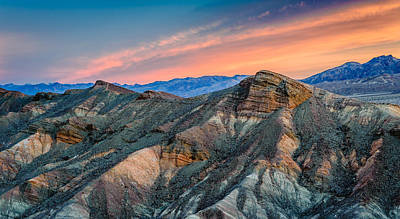 Zabriskie Dawn In Another Direction - Death Valley National Park Photograph Poster