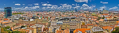 Zagreb Lower Town Colorful Panoramic View Poster by Brch Photography
