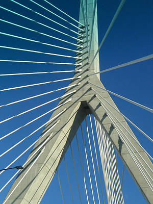 Zakim Bridge Boston Poster by Mary Bedy