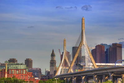 Zakim Bridge On A Clear Day Poster