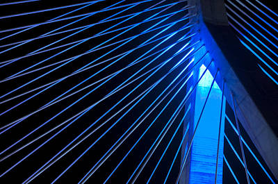 Zakim In Blue - Boston Poster by Joann Vitali