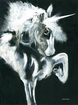 Poster featuring the painting Unicorn by Barbie Batson