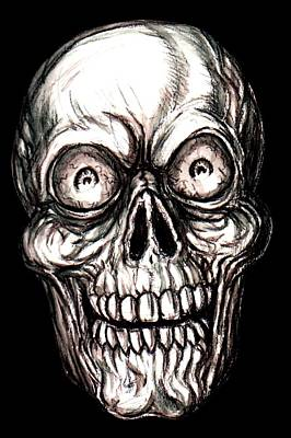 Zany Skeleton Poster by Jack Joya