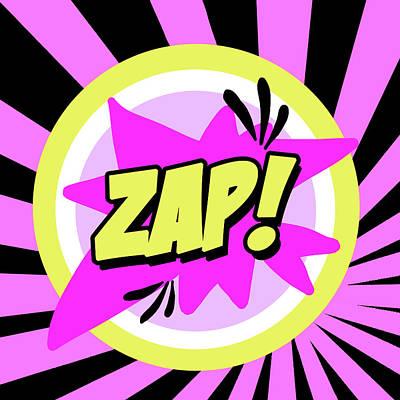 Zap Poster by Anna Quach