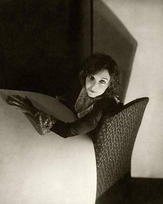 Zasu Pitts Sitting On An Armchair Poster by Edward Steichen