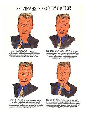 Zbigniew Brezinski's Tips For Teens Poster by Michael Crawford