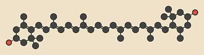 Zeaxanthin Yellow Pigment Molecule Poster by Molekuul