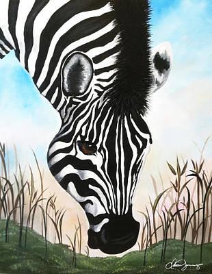 Zebra Poster by Dani Abbott
