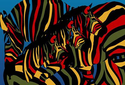Zebra In The Jungle 2 Poster by Mark Ashkenazi