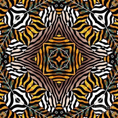 Zebra Mandala Poster by Joseph J Stevens