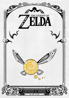 Zelda Legend - Fairy Navi Doodle Poster by Art Et Be