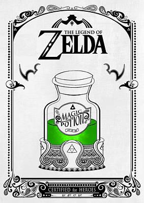 Zelda Legend - Magic Potion Poster by Art Et Be