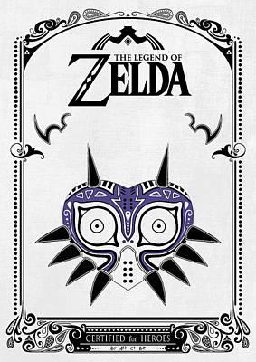 Zelda Legend - Majora's Mask Poster by Art Et Be