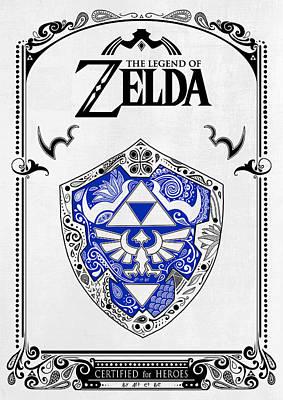 Zelda Legend - Shield Poster by Art Et Be