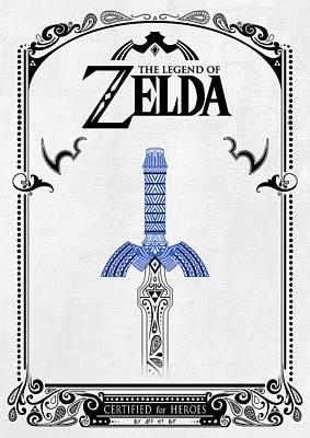 Zelda Legend - Sword Doodle Poster by Art Et Be