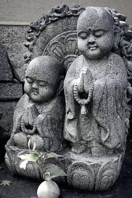 Zen Buddhas - Kyoto Poster by Daniel Hagerman