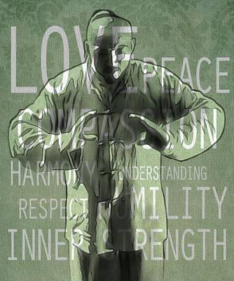 Zen Compassion Poster by Dan Sproul