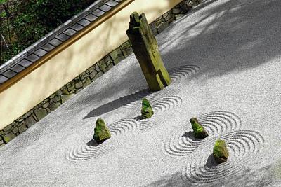 Zen Garden, Portland Japanese Garden Poster by Michel Hersen