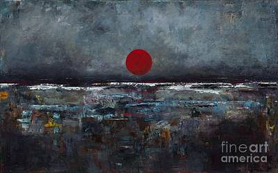 Zen Moon Poster by Frances Marino