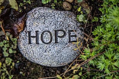 Zen Stone Hope Poster by Eti Reid