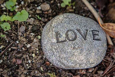 Zen Stone Love Poster by Eti Reid