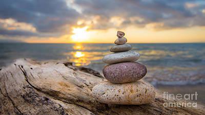 Zen Stones Poster by Aged Pixel