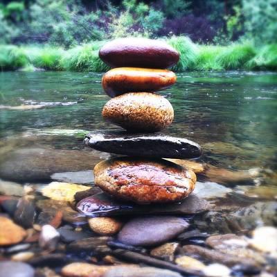 Zen Stones II Poster by Marco Oliveira