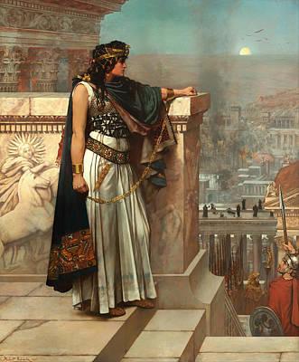 Zenobia's Last Look On Palmyra Poster by Mountain Dreams
