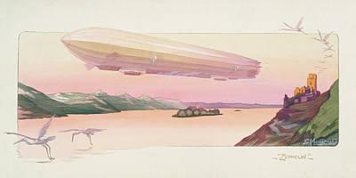 Zeppelin, Published Paris, 1914 Poster by Ernest Montaut