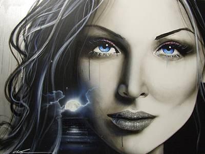 Portrait - ' Zerellic Dreams ' Poster by Christian Chapman Art