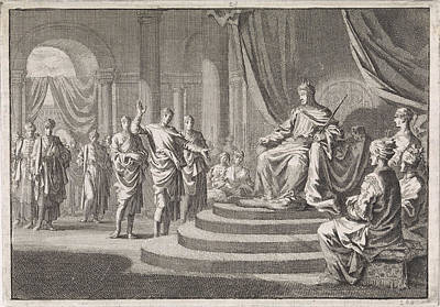 Zerubbabel For Darius, Jan Luyken, Pieter Mortier Poster by Jan Luyken And Pieter Mortier