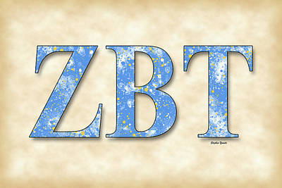 Zeta Beta Tau - Parchment Poster by Stephen Younts