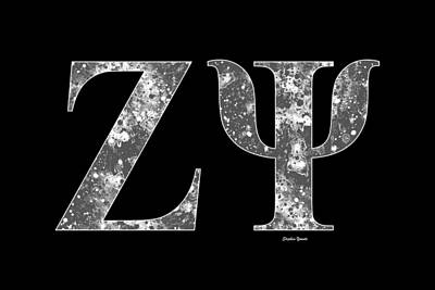 Zeta Psi - Black Poster by Stephen Younts