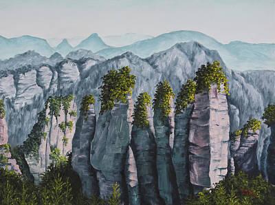 Zhangjiajie China Poster by Darice Machel McGuire