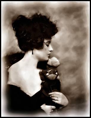 Poster featuring the mixed media Ziegfeld Girl by Mary Morawska