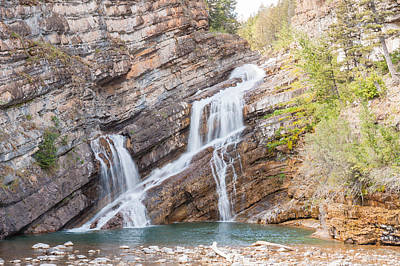 Poster featuring the photograph Zigzag Waterfall by John M Bailey