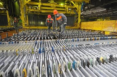Zinc Factory Poster by Ria Novosti