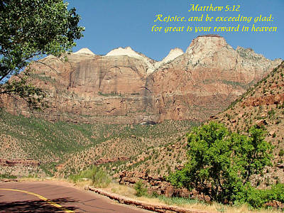 Zion  Matthew 5-12 Poster by Nelson Skinner