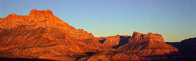 Zion National Park At Sunset, Utah Poster