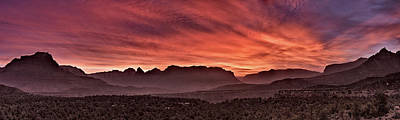 Zion National Park Panoramic Poster by Leland D Howard