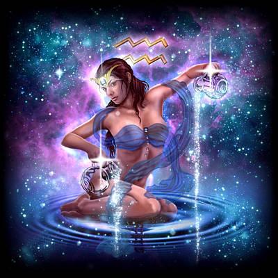 Zodiac Aquarius Poster by Ciro Marchetti