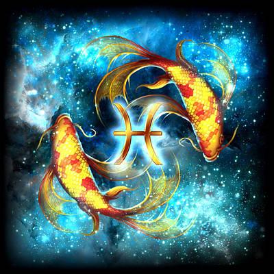 Zodiac Pisces Poster by Ciro Marchetti