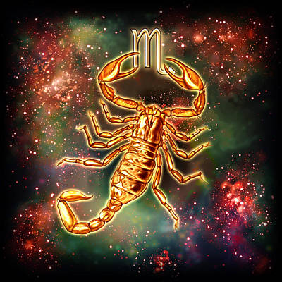 Zodiac Scorpio Poster by Ciro Marchetti