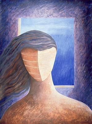 Zoe A La Fenetre, 1994 Oil On Paper Poster by Marie Hugo