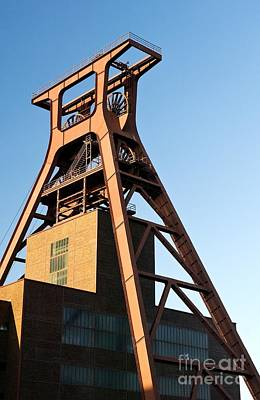 Zollverein Coal Mine Winding Tower Of Shaft 12 Famous Symbol Of Essen And The Ruhrgebiet Germany Poster